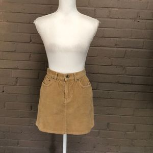 Calvin Klein Tan Corduroy Mini Skirt S